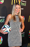 Katrina Bowden attends the 2014 FIFA World Cup McDonald's Launch Party to celebrate the unveiling of the transformed McDonald's fry box at Pillars 38 in New York City, New York on June 05, 2014.