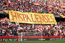 February 20, 2019 - Seville, Spain - Fans Sevilla during the Europa League round of 32 second leg soccer match between Sevilla and Lazio at the Sanchez Pizjuan stadium, in Seville, Spain, on February 20, 2019. (Credit Image: © Gtres/NurPhoto via ZUMA Press)