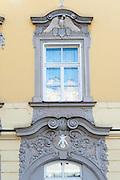 Fenster, Haus zum Elephanten, Passau, Bayerischer Wald, Bayern, Deutschland | window, elephant house, Passau, Bavarian Forest, Bavaria, Germany