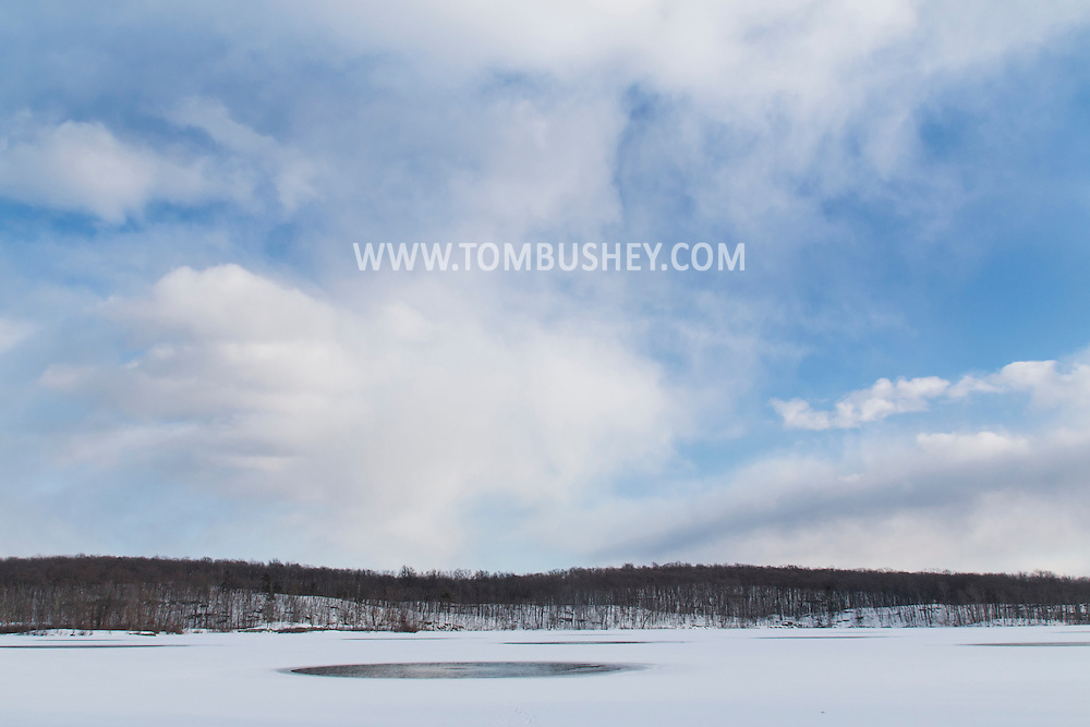 Florida, New York - Winter scenes at Glenmere Lake on Feb. 19, 2015.