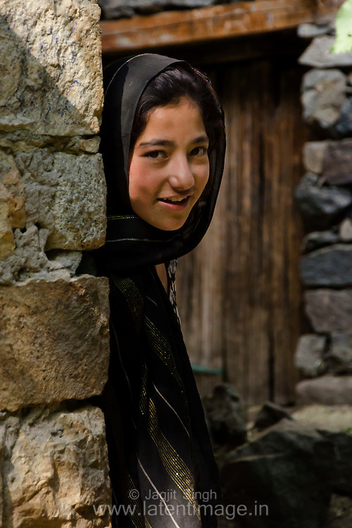 A Girl in Turtuk. Turtuk - A village just on the 'line of control' between India & Pakistan.