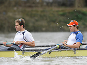 Putney, GREAT BRITAIN,  USA Eight. [right]  Tyler WINKLEVOSS, and Cameron WINKLEVOSS, during the  Pre Boat Race fixture, Oxford University BC vs USA [Select]  M8+.  08/03/2008. [Mandatory Credit, Peter Spurrier/Intersport-images] Varsity Boat Race, Rowing Course: River Thames, Championship course, Putney to Mortlake 4.25 Miles,