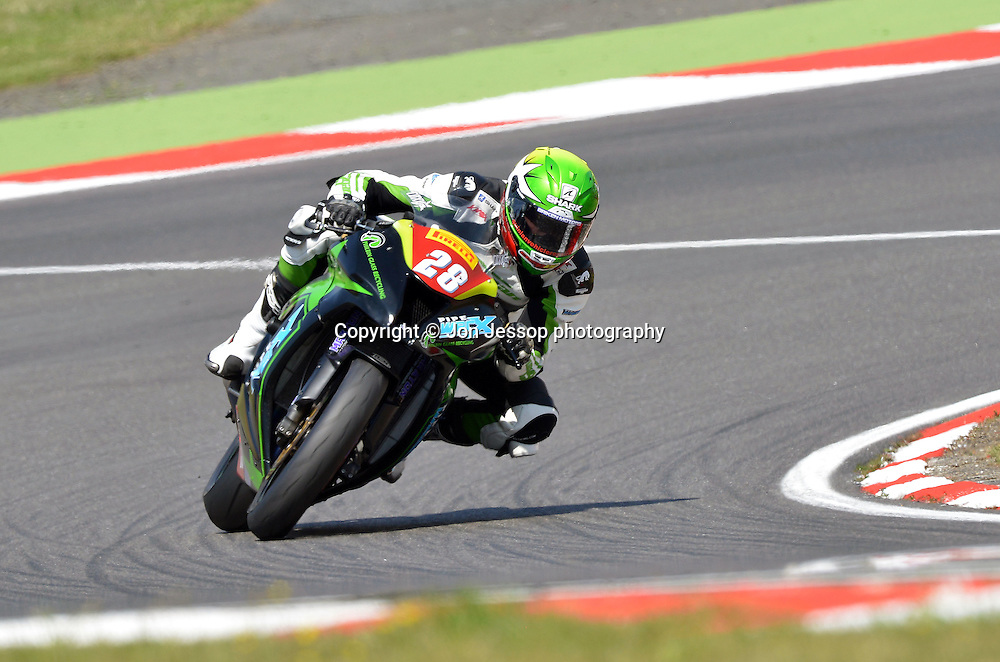 #28 Victor Cox Team Direct CCTV SBR Kawasaki Superstock 1000