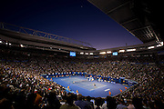 Andy Murray (SCO) vs Novak  Djokovic (SRB)<br /> Rod Laver Arena . Day 14. Mens Singles Final. Australian Open Grand Slam Tennis Championship. Melbourne Olympic Park, Melbourne, Victoria, Australia. 27/01/2013. © 2013 Sport the library /Lucas Wroe