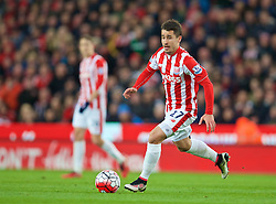 STOKE-ON-TRENT, ENGLAND - Monday, April 18, 2016: Stoke City's Bojan Krkic in action against Tottenham Hotspur during the FA Premier League match at the Britannia Stadium. (Pic by David Rawcliffe/Propaganda)