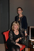 Jo Jo Grima (left) and Francesca Grima (right), Opening of The LAPADA  Art and Antiques Fair. Berkeley Sq. London. 24 September 2013.