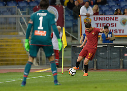 April 18, 2018 - Rome, Italy - Cengiz Under during the Italian Serie A football match between A.S. Roma and AC Genoa at the Olympic Stadium in Rome, on april 18, 2018. (Credit Image: © Silvia Lore/NurPhoto via ZUMA Press)