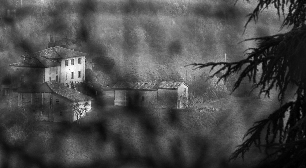 """Black and white photography.Country house in Italy by Karl R Lilliendahl photographer. Photo is available as open edition and limited edition giclee print in four sizes. Click on """"Get Print"""" to see more details."""