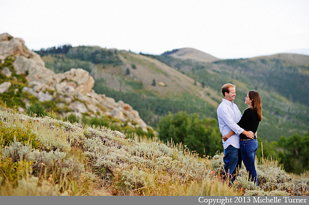 Park City Engagement Photography.  Images by Destination Wedding Photographer Michelle Turner.