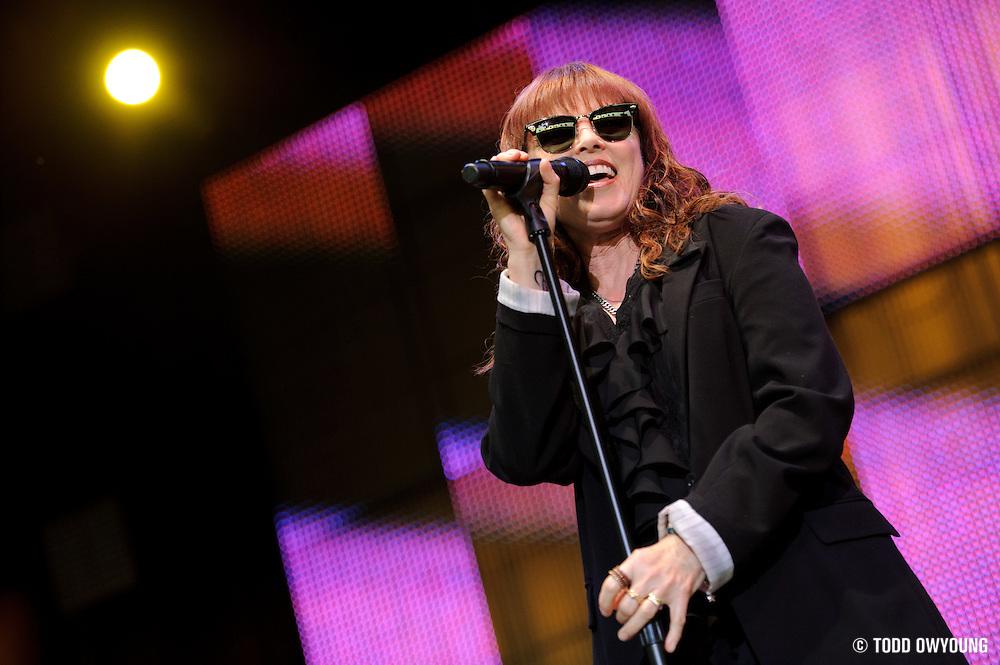 Pat Benatar performing at Verizon Wireless Amphitheater in St. Louis on July 10, 2010.