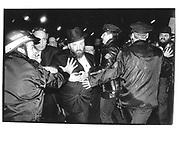Norman Rosenbaum, brother of murdered Halldic scholar Yankel Rosenbaum after the aquitted of Lemrick nelson, N.Y.© Copyright Photograph by Dafydd Jones 66 Stockwell Park Rd. London SW9 0DA Tel 020 7733 0108 www.dafjones.com