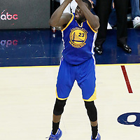 10 June 2016: Golden State Warriors forward Draymond Green (23) takes a jump shot during the Golden State Warriors 108-97 victory over the Cleveland Cavaliers, during Game Four of the 2016 NBA Finals at the Quicken Loans Arena, Cleveland, Ohio, USA.