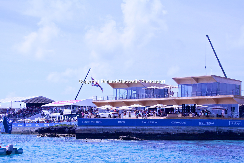 Grand Stands and VIP area - 35th America's Cup - Bermuda  May 28, 2017 . Copyright Image: Richard Gladwell / Sail World / www.photosport.nz