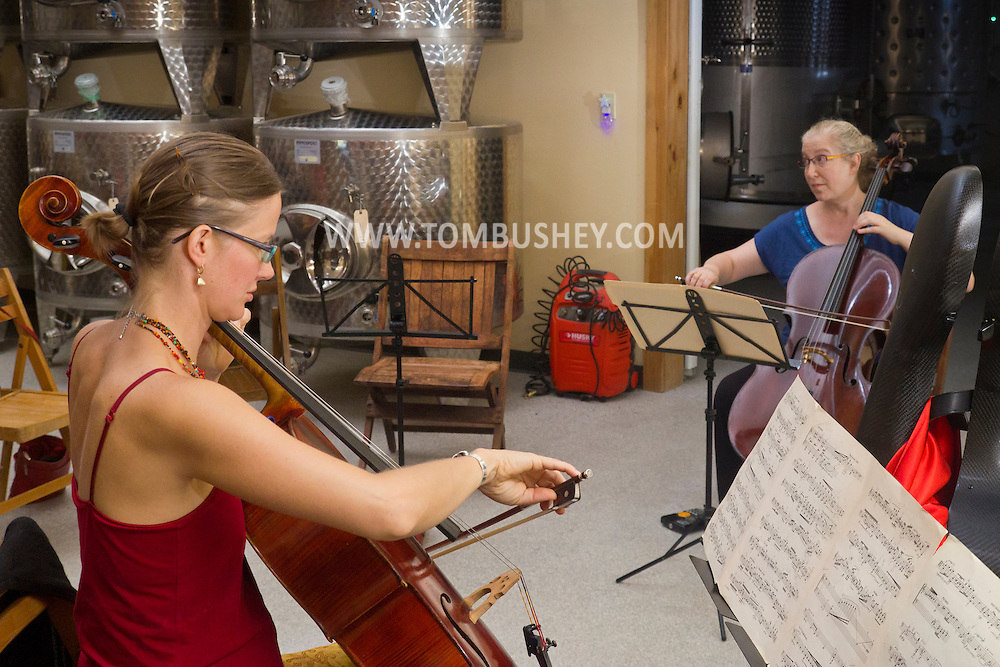 Bethel, New York - Musicians perform during a Music Talks event at the Catskill Distilling Company during the Weekend of Chamber Music's Summer Music Festival on July 17, 2014.