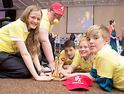 Aine Keaveney, Shane Curran, Eoin Shaefter, Chloe Lydon and Rhys Plower from Moycullen NS at the Medtronic Community Event , comprising of projects about Healthy Living and the heart, KNEX finals and Lean Sigma catapult competitionorganised by the Galway Education Centre at the Radisson Blu Hotel Galway. Photo:Andrew Downes.