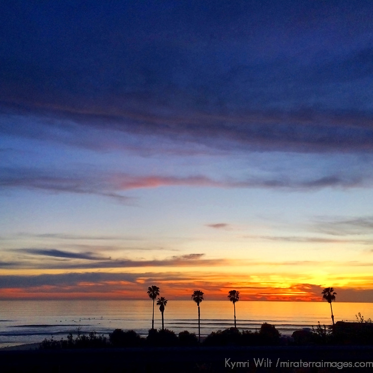 USA, California, San Diego. Cardiff by the Sea sunset.