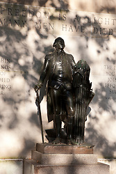 George Washington statue at the Tomb of the Unknown Soldier, Independence National Historical Park, Philadelphia, Pennsylvania, United States of America