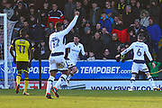 Millwall's Ben Marshall scores a goal and celebrates 1-0 during the EFL Sky Bet Championship match between Burton Albion and Millwall at the Pirelli Stadium, Burton upon Trent, England on 24 February 2018. Picture by John Potts.