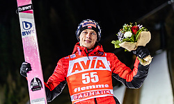 13.01.2019, Stadio del Salto, Predazzo, ITA, FIS Weltcup Skisprung, Val di Fiemme, Herren, Siegerehrung, im Bild Sieger Dawid Kubacki (POL) // Winner Dawid Kubacki of Poland during the winner Ceremony for the Four Hills Tournament of FIS Ski Jumping World Cup at the Stadio del Salto in Predazzo, Italy on 2019/01/13. EXPA Pictures © 2019, PhotoCredit: EXPA/ JFK