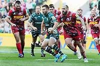 Rugby Union - 2017 / 2018 Aviva Premiership (London Double Header) - London Irish vs. Harlequins<br /> <br /> Tommy Bell of London Irish and Joe Marler of Quins at Twickenham.<br /> <br /> COLORSPORT/ANDREW COWIE