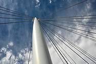 This is a picture of a column holding up a bridge. The angle of the photo make it appear as though it is reaching for the sky.<br /> <br /> Camera <br /> NIKON D5000<br /> Lens <br /> 18.0-270.0 mm f/3.5-6.3<br /> Focal Length <br /> 18<br /> Shutter Speed <br /> 1/500<br /> Aperture <br /> 11<br /> ISO <br /> 200