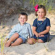 Siblings in the dunes of Cape Cod