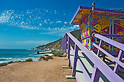 LT1, Lifeguard Tower, Topanga,  CA, Socal Beach, Lifeguard Stations, CA, Geometric, shapes, Lifeguard Towers, Portraits of Hope, Summer of Color exhibit, The flower, beauty, core design, elements, design theme, environment, symbol of joy, universal, youth