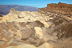 """Manly Beacon 1"" - Photograph taken from Zabriskie Point of Manly Point in Death Valley, California."