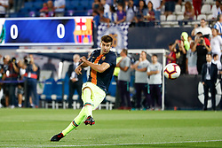 September 26, 2018 - Gerard Pique of FC Barcelona during the La Liga (Spanish Championship) football match between CD Leganes and FC Barcelona on September 26th, 2018 at Municipal Butarque stadium in Madrid, Spain. (Credit Image: © AFP7 via ZUMA Wire)