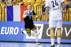 Luca Witzke of Germany during handball match between National teams of Germany and France in Semifinal of 2018 EHF U20 Men's European Championship, on July 25, 2018 in Arena Zlatorog, Celje, Slovenia. Photo by Urban Urbanc / Sportida