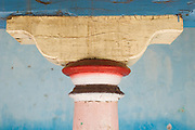 Capital of a pillar on an old house in Nagore. Near Nagaipattinam..