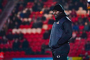 Darren Moore of Doncaster Rovers (Manager) during the The FA Cup match between Doncaster Rovers and AFC Wimbledon at the Keepmoat Stadium, Doncaster, England on 19 November 2019.