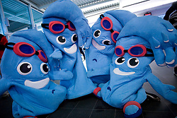The official masks at 4th day of Heats of LEN European Short Course Swimming Championships Rijeka 2008, on December 14, 2008,  in Kantrida pool, Rijeka, Croatia. (Photo by Vid Ponikvar / Sportida)