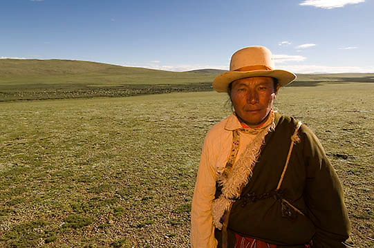 Portrait of Tibetan.