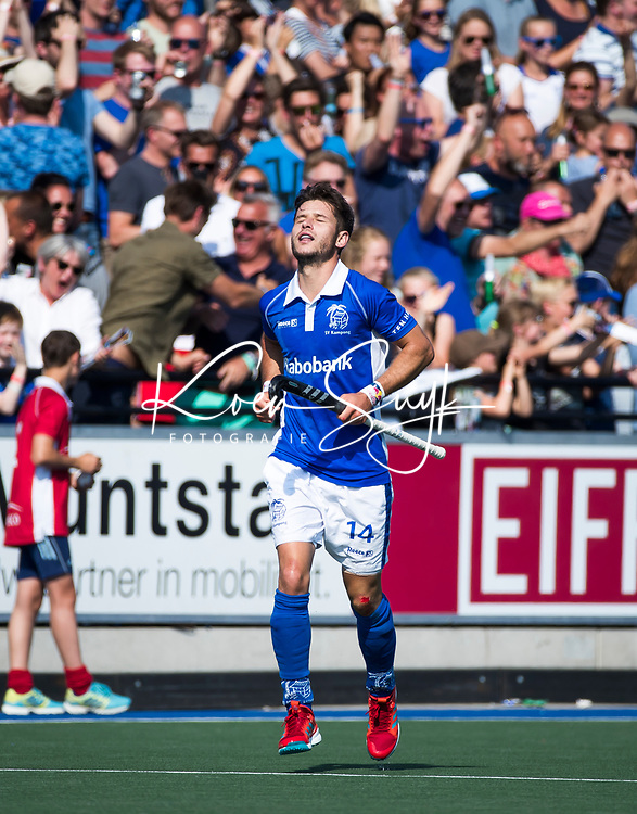 UTRECHT -  Robbert Kemperman (Kampong) heeft gescoord   tijdens   de finale van de play-offs om de landtitel tussen de heren van Kampong en Amsterdam (3-1). Kampong kampioen van Nederland. COPYRIGHT  KOEN SUYK