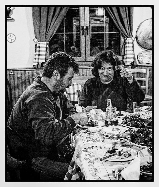 Niki at her restaurant in Zagora