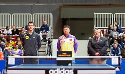 27.02.2011, Westfalenhalle Dortmund, GER, Tischtennis, German Open, im Bild Timo Boll (GER) links und Ma Lin (CHN) mitte, EXPA Pictures © 2011, PhotoCredit: EXPA/ A. Neis