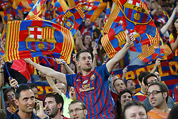 30.05.2015, Camp Nou, Barcelona, ESP, Copa del Rey, Athletic Club Bilbao vs FC Barcelona, Finale, im Bild FC Barcelona's supporters // during the final match of spanish king's cup between Athletic Club Bilbao and Barcelona FC at Camp Nou in Barcelona, Spain on 2015/05/30. EXPA Pictures &copy; 2015, PhotoCredit: EXPA/ Alterphotos/ Acero<br /> <br /> *****ATTENTION - OUT of ESP, SUI*****