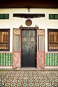 Traditional shophouse entrance, Phuket Old Town