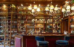 Interior of bar at Torridon Hotel on the North Coast 500 tourist motoring route in northern Scotland, UK