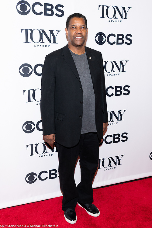 Denzel Washington, 2018 Tony Award Nominee, in New York City on May 2, 2018