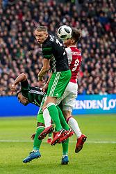 21-01-2018 NED: AFC Ajax - Feyenoord, Amsterdam<br /> Ajax was met 2-0 te sterk voor Feyenoord / Sven van Beek #3 of Feyenoord, Klaas Jan Huntelaar #9 of AFC Ajax