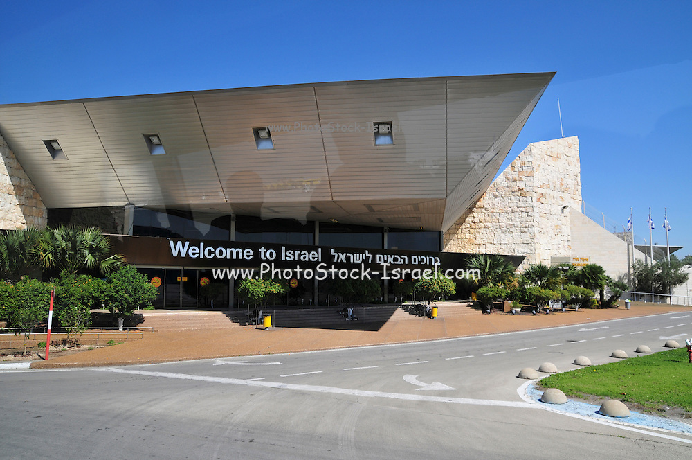 Israel, Ben-Gurion international Airport, Terminal 3, Arrival hall, welcome to Israel sign