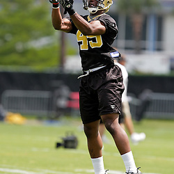 08 May 2009: Tim Turner (45) a rookie tryout defensive back from Arkansas-Pine Bluff participates in drills during the New Orleans Saints  rookie minicamp held at the team's practice facility in Metairie, Louisiana.