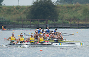 Hamburg. GERMANY. Top crew ITA JW4-, Exhausted after the Saturday Morning, Semi Finals A/B  at the 2014 FISA Junior World rowing. Championships.  10:11:53  Saturday  09/08/2014  [Mandatory Credit; Peter Spurrier/Intersport-images]