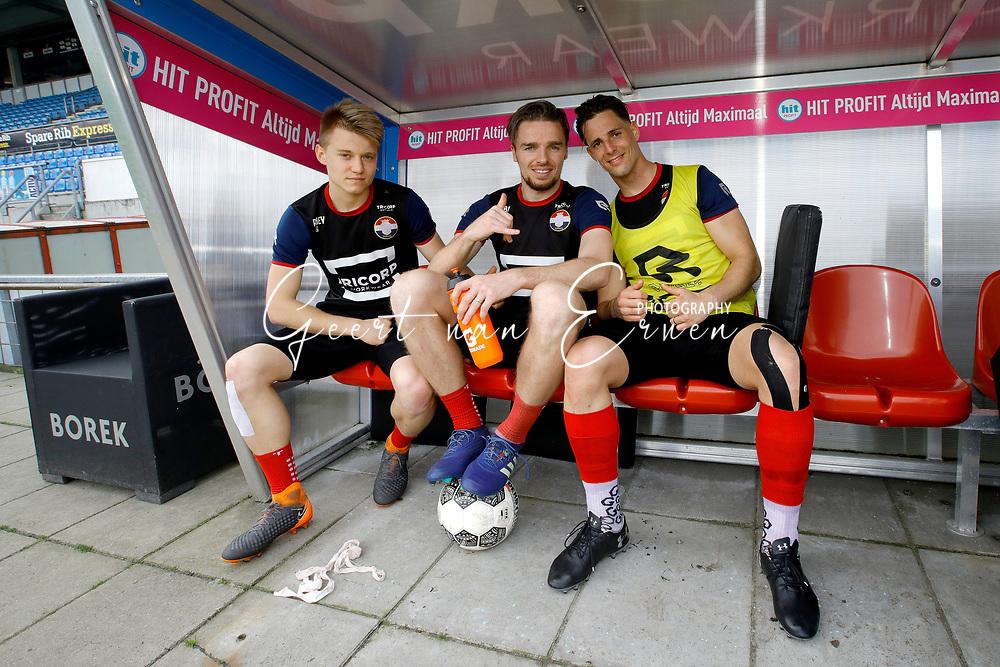 (L-R) *Bartek Urbanski* of Willem II, *Ben Rienstra* of Willem II, *Fran Sol* of Willem II