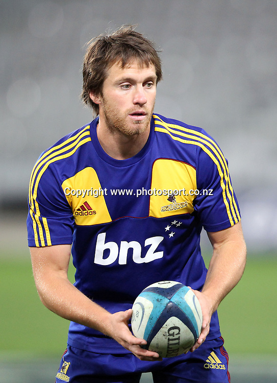Ben Smith.<br /> Investec Super Rugby - Highlanders v Stormers, 7 April 2012, Forsyth Barr Stadium, Dunedin, New Zealand.<br /> Photo: Rob Jefferies / photosport.co.nz
