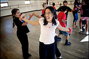 """Ivanna Hernandez, 10, takes part in a hip-hop dance class at the National Dance Institute of New Mexico. Her mother, Lupita Hernandez, has worked for Ivanna to be involved in all kinds of activities. """"It's my life. All I want to do is dance. I don't want to do homework,"""" Ivanna said."""