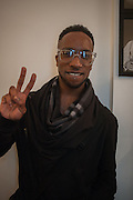 MEKEL BAILEY, Black Eye eyewear's 1st Birthday, 38 Goodge Street,  London. W1. 16 January 2014.