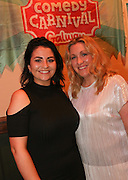 repro free: Vodafone Comedy Carnival : <br /> <br /> Pictured at the launch of the Vodafone Comedy Carnival in the Roisin Dubh were, Pamela Joyce/ FM104 and Sorcha O'Flanagan/ PR  . The 2016 Vodafone Comedy Carnival runs as part of Vodafone&rsquo;s Centre Stage and is sure to fill the &lsquo;Eyre&rsquo; with laughter with performances from international and home grown comedians over the October bank holiday weekend (25th to 31st of October). Shows will take place in multiple venues across the city, including the brand new venue &lsquo;The Red Box&rsquo; at Eyre Square. Tickets on sale from Monday 29th August. For more for info go to  HYPERLINK &quot;http://www.vodafonecomedycarnival.com&quot; www.vodafonecomedycarnival.com&nbsp; <br /> Photo: xposure.